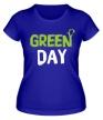 Женская футболка «Vegan green day» - Фото 1