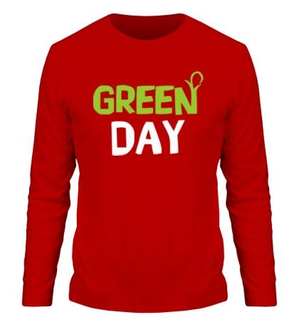 Мужской лонгслив Vegan green day