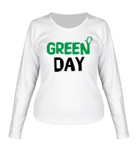 Женский лонгслив Vegan green day