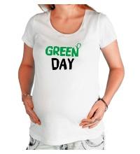 Футболка для беременной Vegan green day