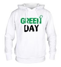 Толстовка с капюшоном Vegan green day