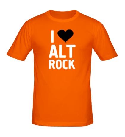 Мужская футболка I love alt Rock