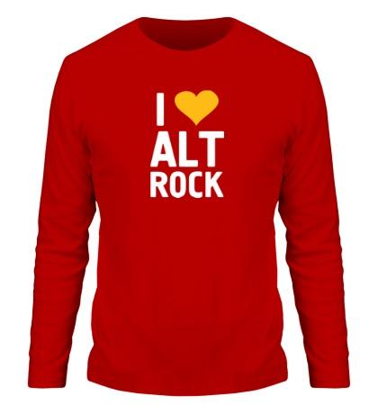 Мужской лонгслив I love alt Rock