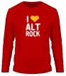 Мужской лонгслив «I love alt Rock» - Фото 1