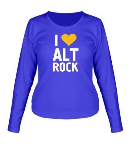 Женский лонгслив I love alt Rock