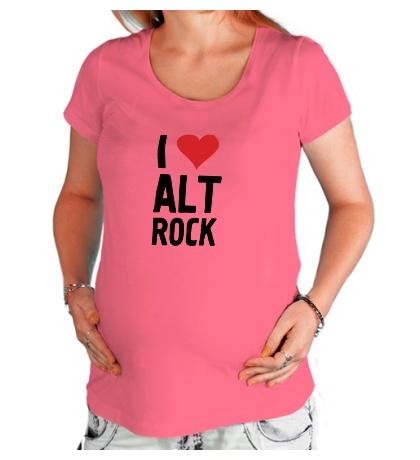 Футболка для беременной I love alt Rock