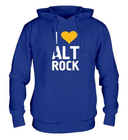 Толстовка с капюшоном I love alt Rock