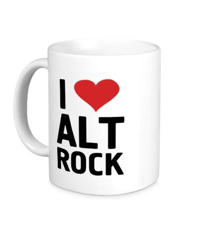 Керамическая кружка I love alt Rock