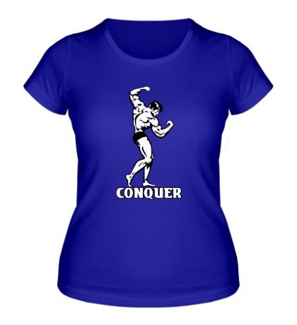 Женская футболка Conquer