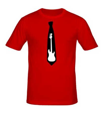 Мужская футболка Галстук гитара