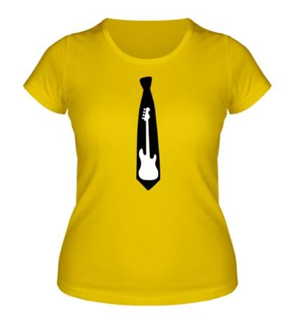 Женская футболка Галстук гитара