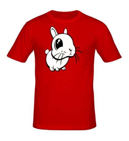 Мужская футболка Грустный зайчик