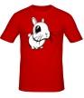 Мужская футболка «Грустный зайчик» - Фото 1