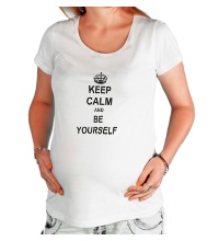 Футболка для беременной Keep calm and be yourself