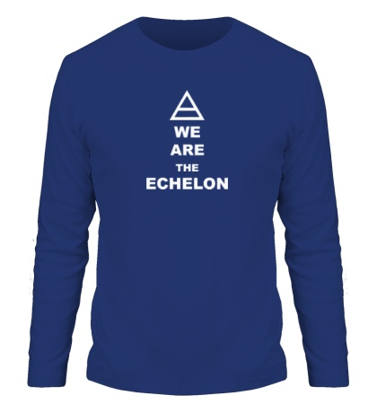 Мужской лонгслив We are the echelon