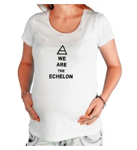 Футболка для беременной We are the echelon