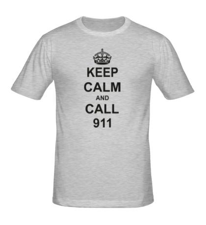 Мужская футболка Keep calm and call 911