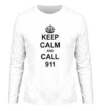 Мужской лонгслив Keep calm and call 911