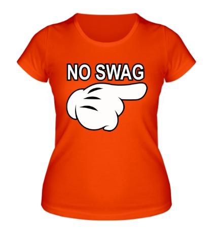 Женская футболка No swag