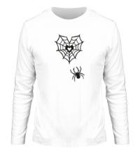 Мужской лонгслив Любящий паук