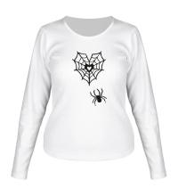Женский лонгслив Любящий паук
