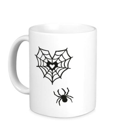 Керамическая кружка Любящий паук