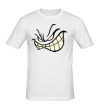Мужская футболка Агрессивный смайл glow