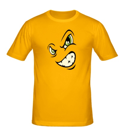 Мужская футболка Сердитый смайл