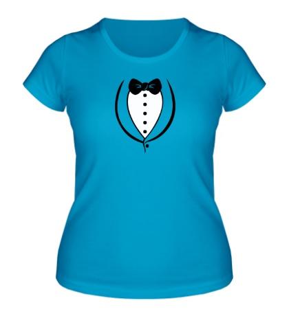 Женская футболка Смокинг мужчины