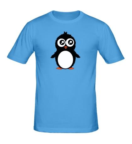 Мужская футболка Милый пингвин