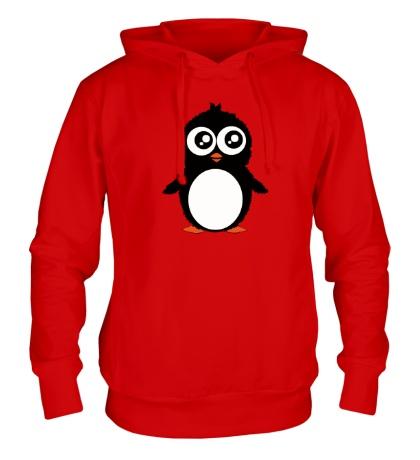 Толстовка с капюшоном Милый пингвин