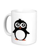 Керамическая кружка Милый пингвин