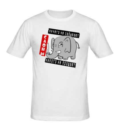 Мужская футболка Слоны никого не прощают