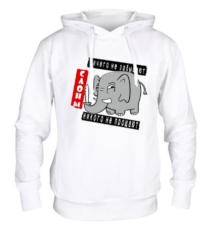 Толстовка с капюшоном Слоны никого не прощают