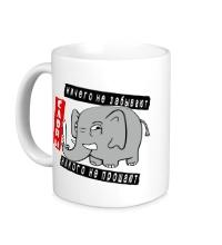 Керамическая кружка Слоны никого не прощают