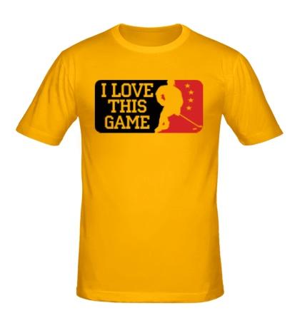 Мужская футболка I love this Hockey