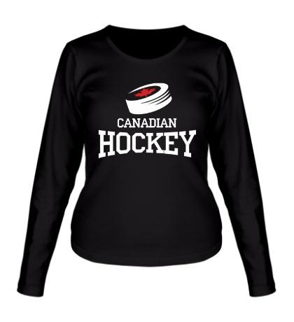 Женский лонгслив Canadian hockey