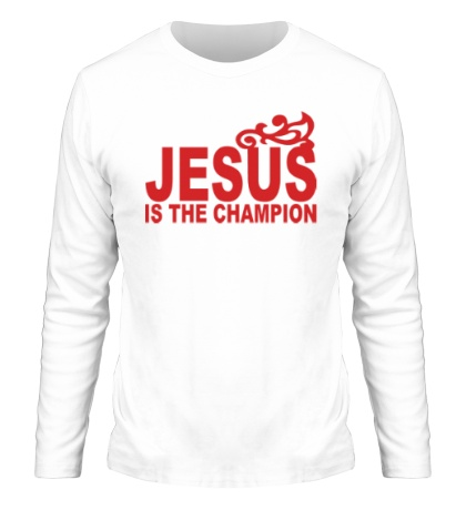 Мужской лонгслив Jesus is the champion