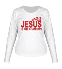 Женский лонгслив Jesus is the champion