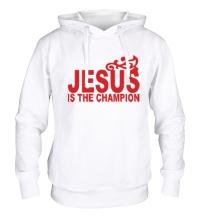 Толстовка с капюшоном Jesus is the champion