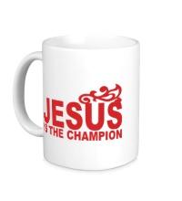 Керамическая кружка Jesus is the champion