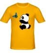 Мужская футболка «Панда с бабочкой» - Фото 1