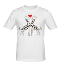 Мужская футболка Влюбленные жирафы