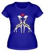 Женская футболка «Влюбленные жирафы» - Фото 1