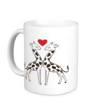 Керамическая кружка Влюбленные жирафы