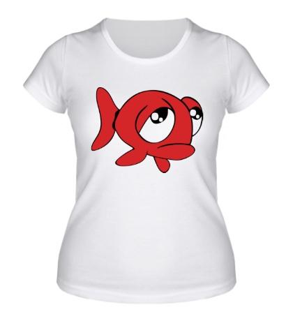 Женская футболка «Грустная рыба»