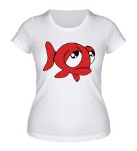 Женская футболка Грустная рыба