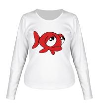 Женский лонгслив Грустная рыба