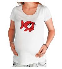 Футболка для беременной Грустная рыба