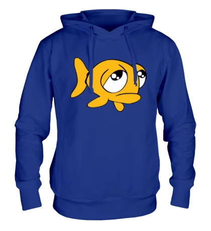 Толстовка с капюшоном Грустная рыба